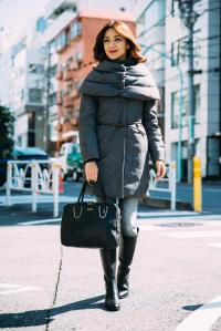GREY DOWN COAT